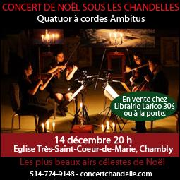 Concert Noel chandelle