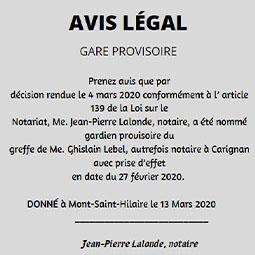 Ghislain Lebel_2020_carré_avis légal