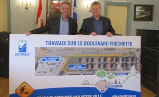 Plus d'un million de dollars en travaux cet été à Chambly